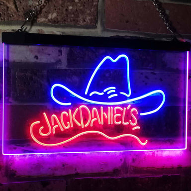 Jack Daniel's Jack Daniel's Hat Club Bar Decoration Gift Dual Color Led Neon Sign a2047-led sign-ZignSign - More than a sign