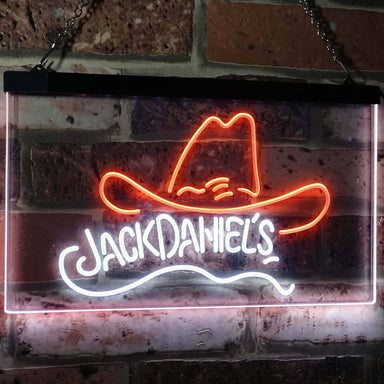 Jack Daniel's Jack Daniel's Hat Club Bar Decoration Gift Dual Color Led Neon Sign a2047
