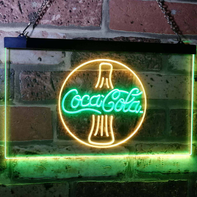 Coca Cola Coke Bottle Bar Decoration Gift Dual Color Led Neon Sign a2105-led sign-ZignSign - More than a sign