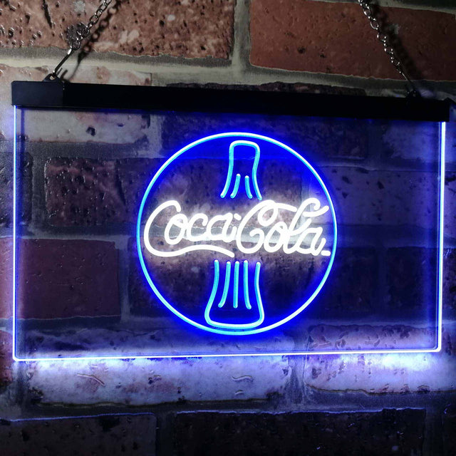 Coca Cola Coke Bottle Bar Decoration Gift Dual Color Led Neon Sign a2105
