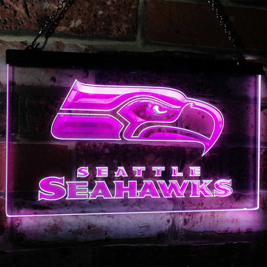 Seattle Seahawks Football Bar Decoration Gift Dual Color Led Neon Sign b0242