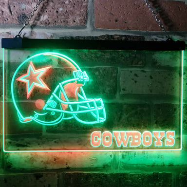 Dallas Cowboys Football Bar Decoration Gift Dual Color Led Neon Sign b0317-led sign-ZignSign - More than a sign