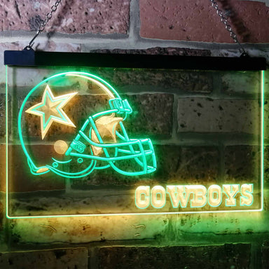Dallas Cowboys Football Bar Decoration Gift Dual Color Led Neon Sign b0317