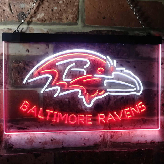 Baltimore Ravens Football Bar Decoration Gift Dual Color Led Neon Sign b2033-led sign-ZignSign - More than a sign