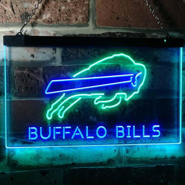 Buffalo Bills Football Bar Decoration Gift Dual Color Led Neon Sign b2034-led sign-ZignSign - More than a sign