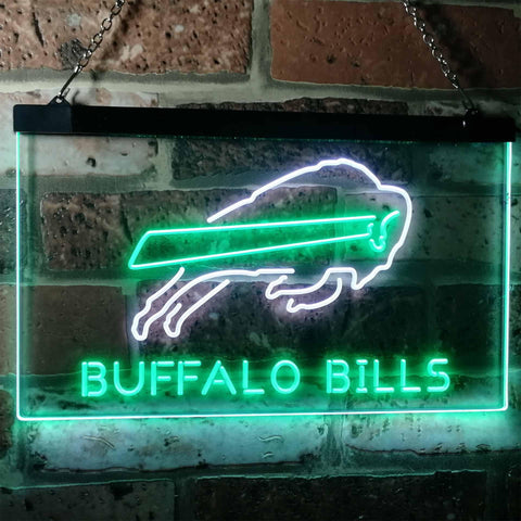 Buffalo Bills Football Bar Decoration Gift Dual Color Led Neon Sign b2034
