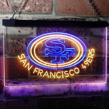 San Francisco 49ers Football Bar Decor Dual Color Led Neon Sign b2057
