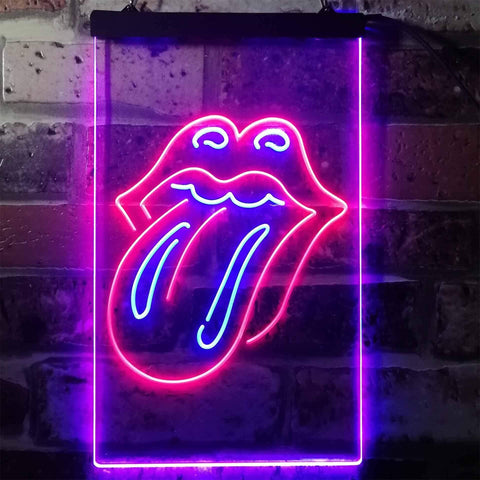 Rolling Stones Tongue Novelty LED Neon Sign