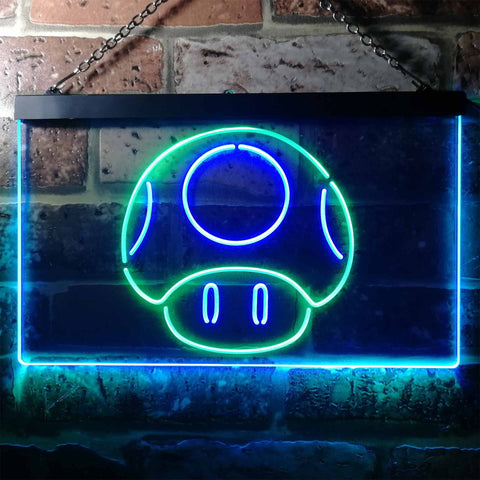 Mario Mushroom Novelty LED Neon Sign