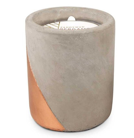 Bergamot and Mahogany Concrete Candle