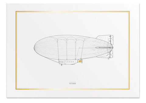 Fly High Blimp Print