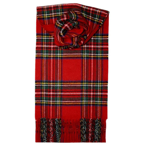 Lochcarron Red Stewart Royal Tartan Lambswool Scarf