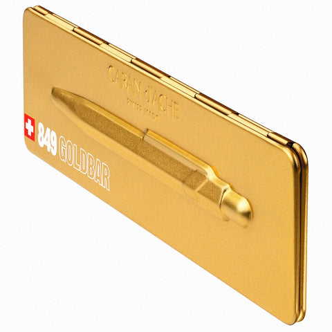 Caran d'Ache 849 Goldbar Ballpoint Pen with Case
