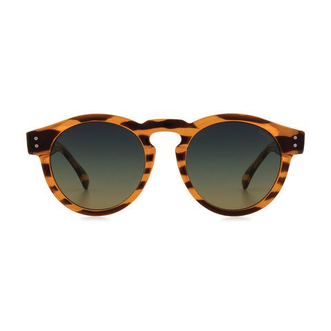 Komono Clement Sunglasses: Lined Tortoise