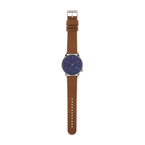 Komono Winston Watch: Blue Cognac
