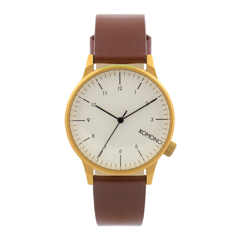 Komono Winston Regal Watch: Chestnut