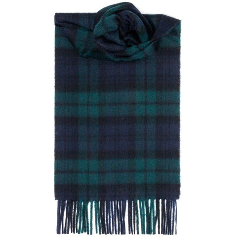 Lochcarron Luxury Cashmere Scarf: Black Watch Modern Tartan