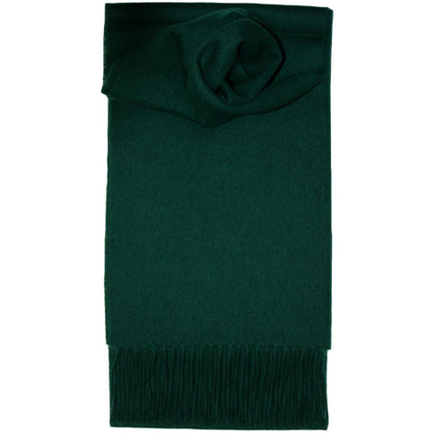 Lochcarron Lambswool Scarf: Bottle Green