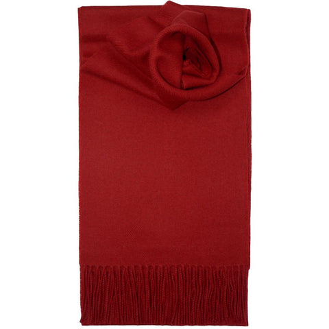 Lochcarron Lambswool Scarf: Red