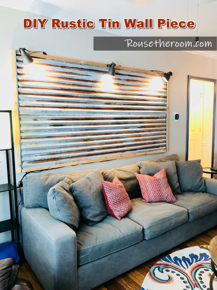 DIY Rustic Tin Wall with Galvanized Metal Roofing - My Favorite DIY Home Decor Project of All Time