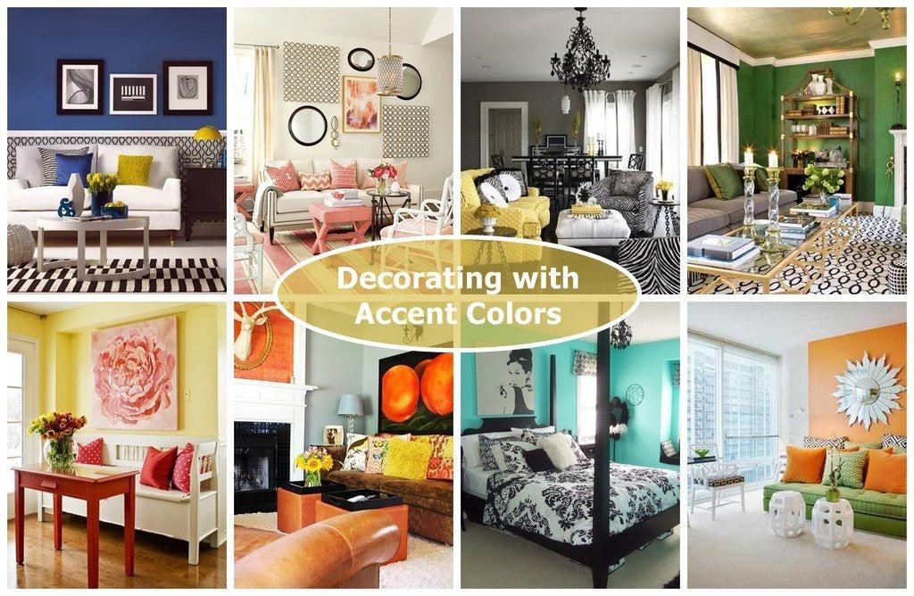 Decorating with Accent Colors - Home Decor Accessories to go with Your Wall Paint