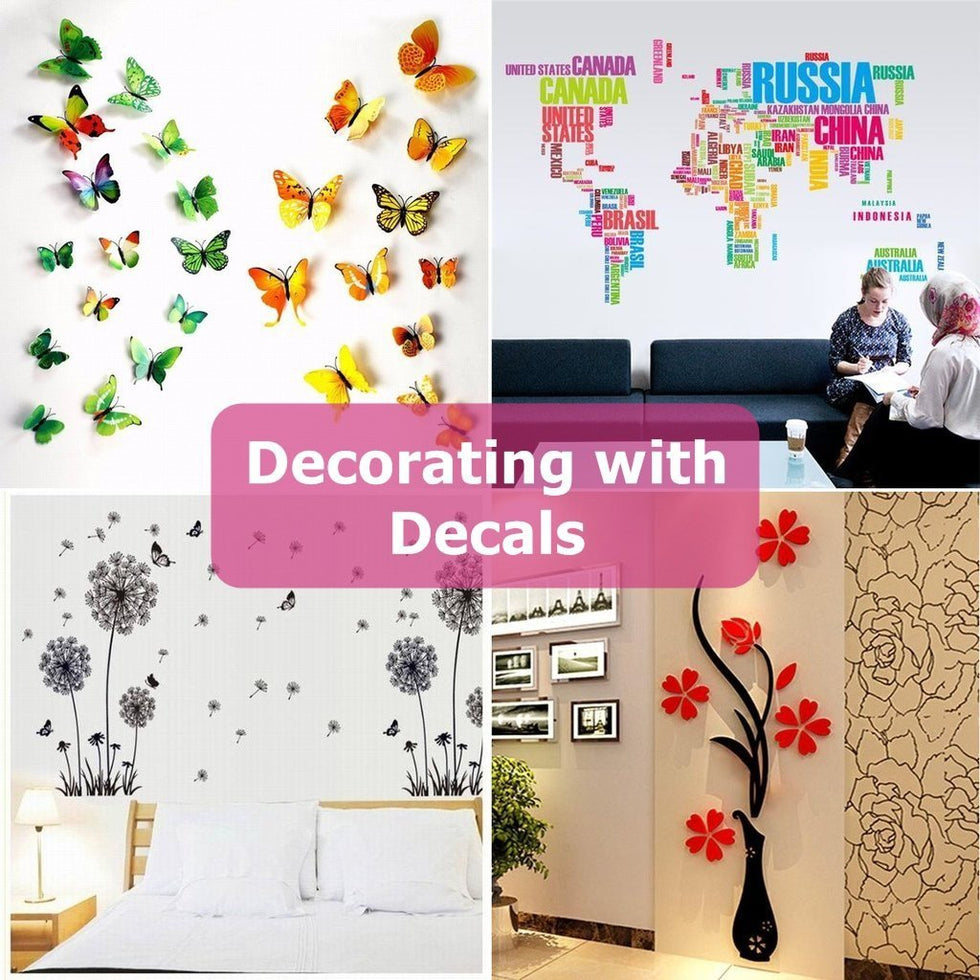 Decorating with Wall Decals, Stickers. Shop large DIY mural ...