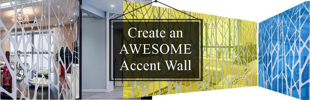 DIY Mirror Accent Wall