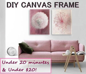 Easily Stretch & Frame Canvas Artwork Yourself Using a Standard, Cheap Frame