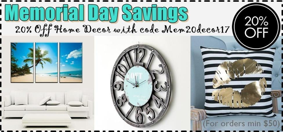 Memorial SALE on Artwork, Throw Pillows & HOME DECOR. 20% OFF SITEWIDE!!! Hurry to Take Advantage.