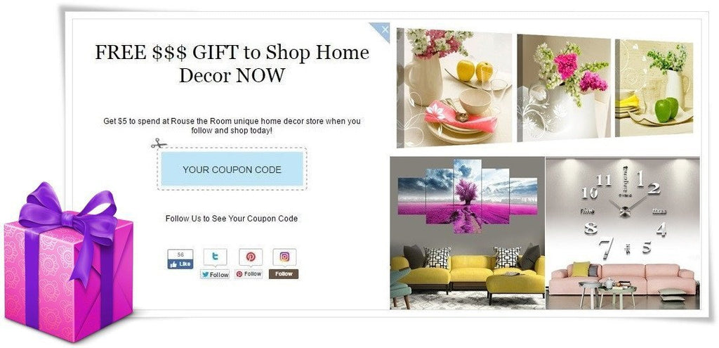 Shop for Home Goods with our FREE Cash Gift NOW