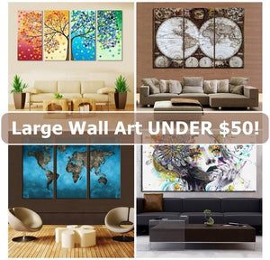 The Coolest Large Wall Paintings, Canvases, Art Under $50