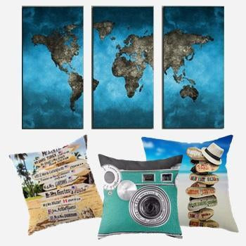 Geography and Travel Home Decor Theme-Shop Unique Home Decor on Sale