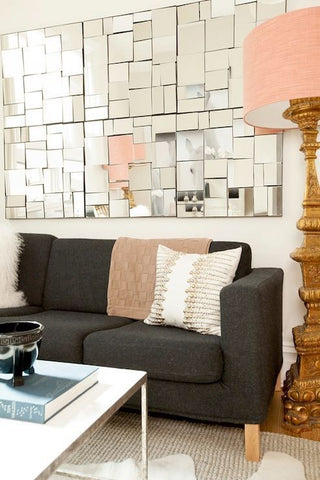 Apartment Decor with Mirror Wall
