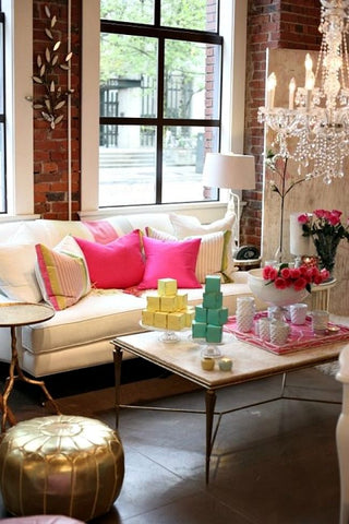 Decor for Apartment and Home, Pink and Green Accessories