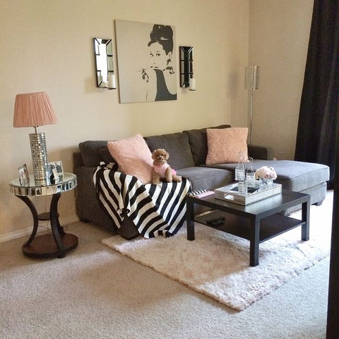 Modern Girly Apartment Decor Pink and Black