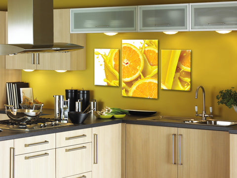 modern kitchen art, yellow kitchen decor