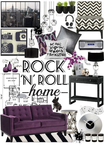 Rock n 39 roll home decor ideas and where to find rocker for Channel 4 living room ideas