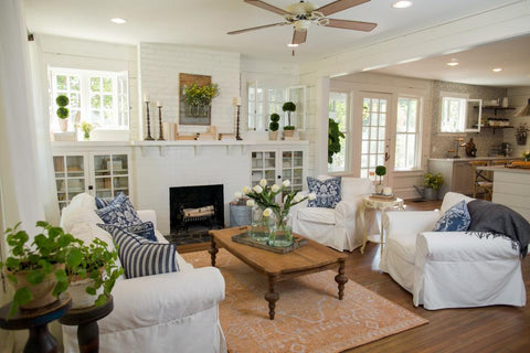 modern cottage living room design