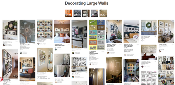 Decorating Ideas For Large Walls decorating large walls - tons of ideas for large, blank wall space