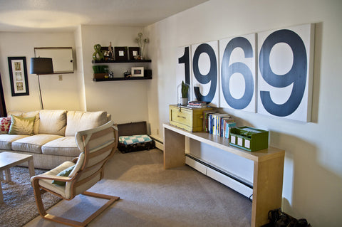 Retro Apartment Decor Wall and Accessories