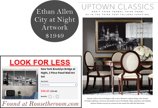 Ethan Allen artwork home decor sale