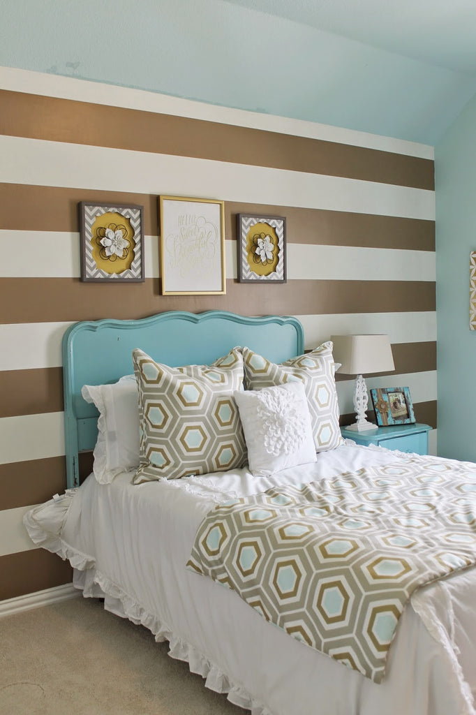 brown painted room accent decor ideas