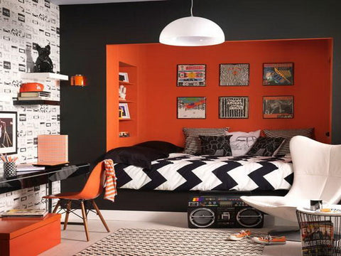 rock n 39 roll home decor ideas and where to find rocker. Black Bedroom Furniture Sets. Home Design Ideas