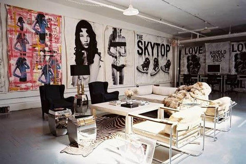 rock punk interior design accessories