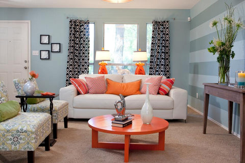 Charming Home Decor For Blue Living Room Part 28