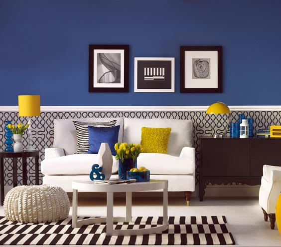 navy blue paint walls decor accessories to match