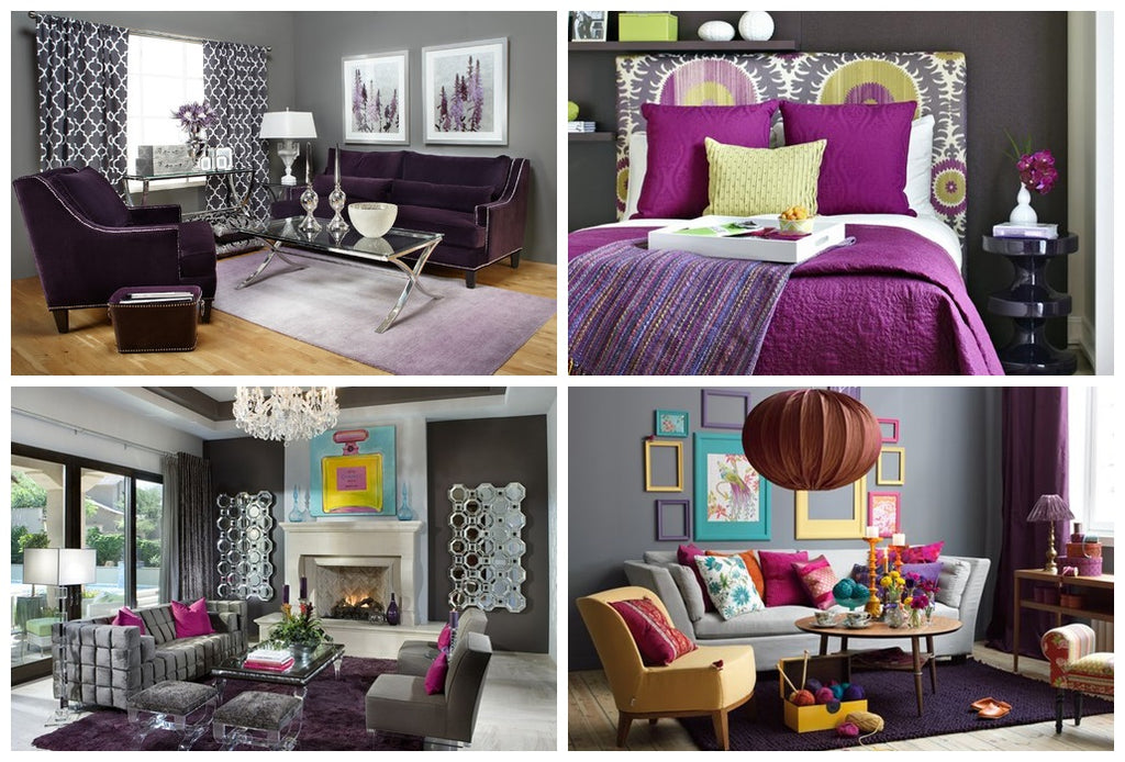 Purple, lavender, lilac home decor ideas
