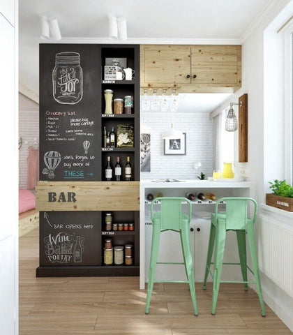 chalkboard kitchen menu decor