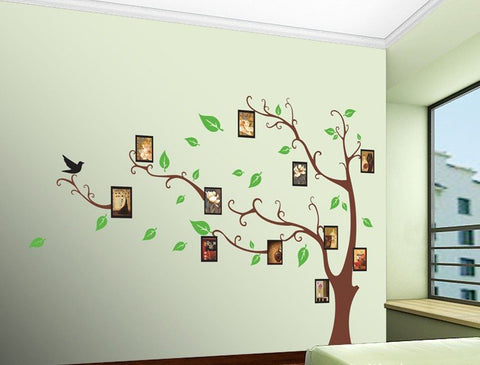 DIY Wall Family Photo Tree With Decal