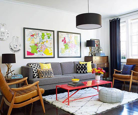 Awesome Apartment Decor with Color Accents